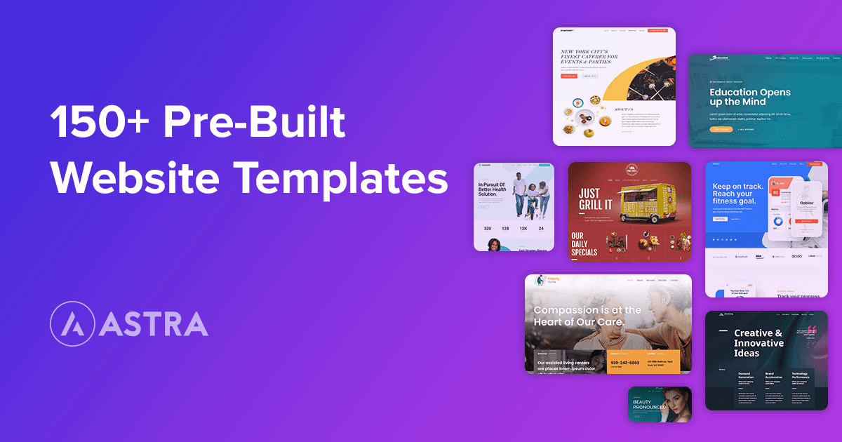 Astra Pro With 150+ Website Templates