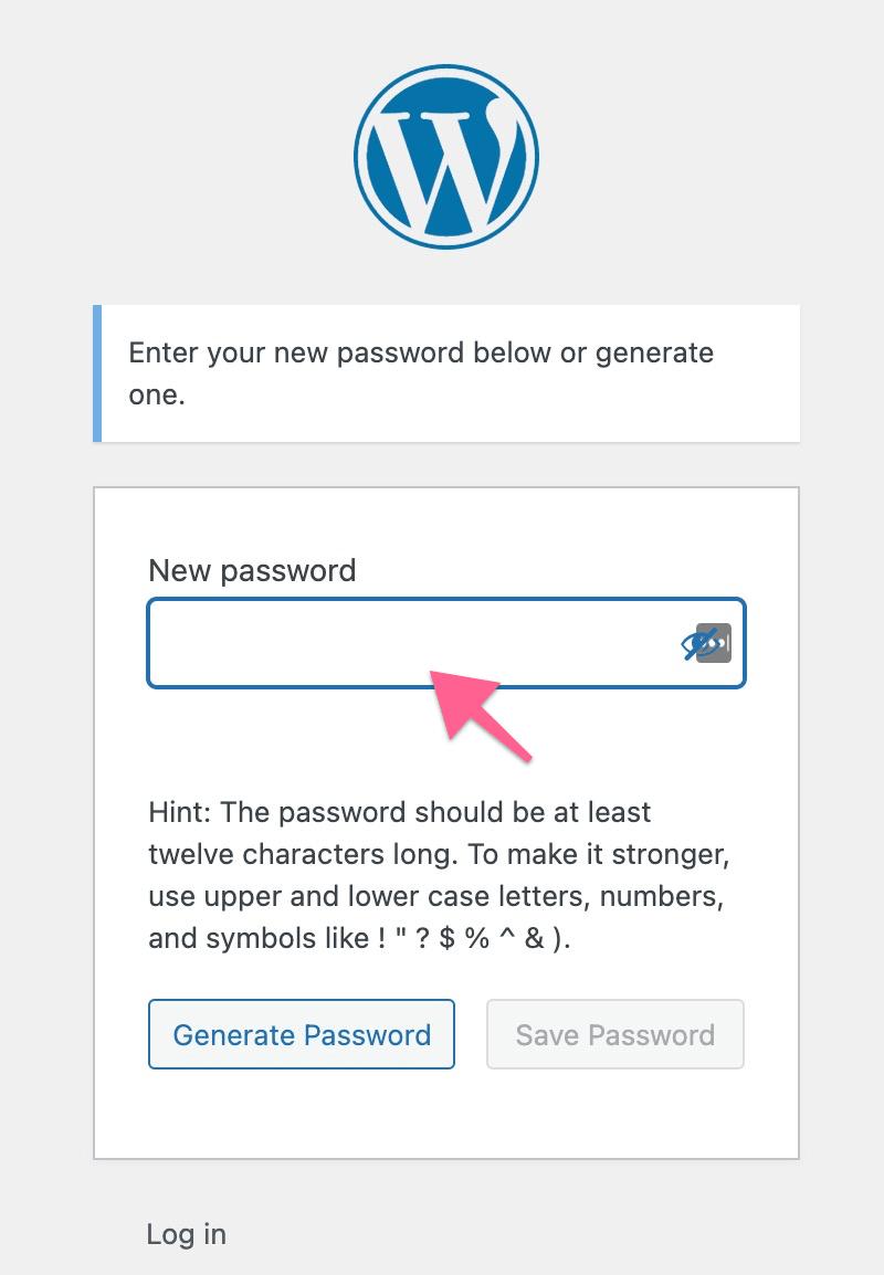 Set up New Account Password